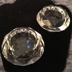 Beautiful diamond cut candle holders